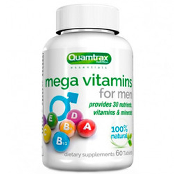 Quamtrax Nutrition  Mega Vitamins for Men 60 таб